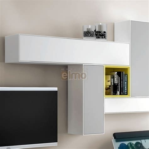 cuisine destockage ensemble meuble tv mural composable design laque bicolore