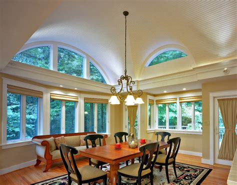Breakfast Room Addition With Barrel Vaulted Ceiling