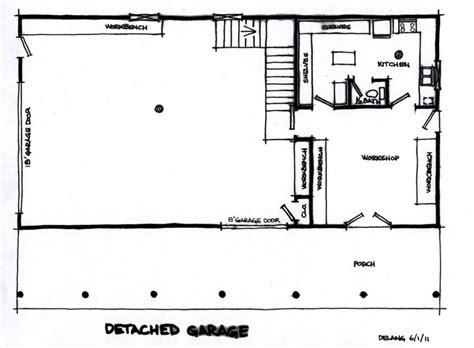 house floor plans with detached garage house design plans