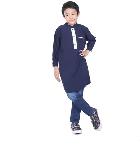 baju muslim laki laki lengan panjang jual jubah anak laki laki lengan panjang gamis muslim navy julie collection di lapak julie