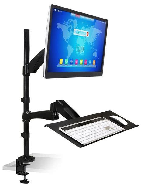 computer keyboard stand for desk adjustable mount desk monitor sit stand workstation laptop