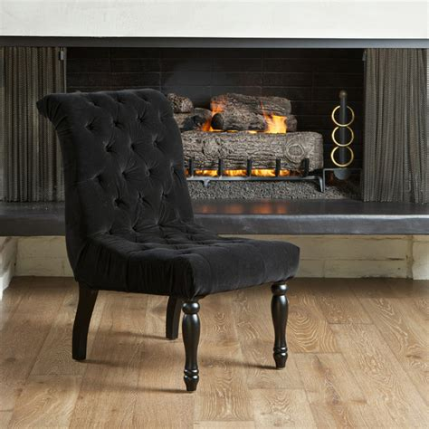 tufted accent chair dining room contemporary with backdrop
