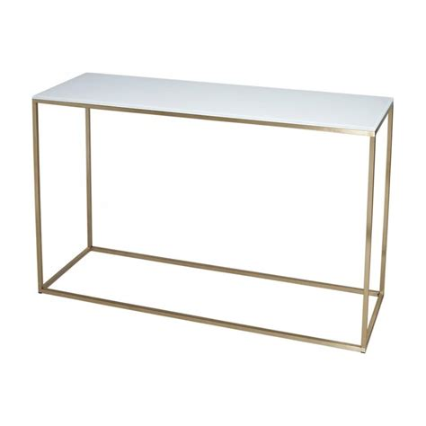 all modern console table white glass and gold metal contemporary console table