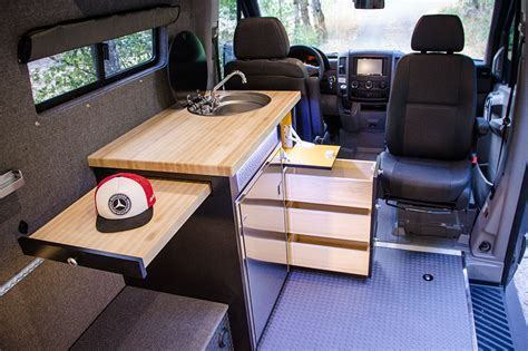 Galley Kitchen Compact. Medium. Large.   Outside Van