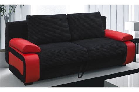 black fabric sofa bed sofa beds victor fabric sofa bed red black