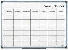 Magnetic Drywipe Weekly Planning Board Orange Displays