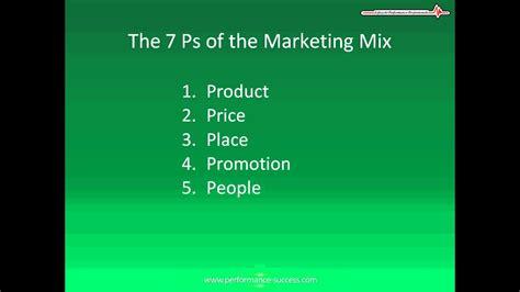 7 P's Of Marketing