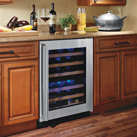 under cabinet wine fridge wine cooler cabinet allavino monaco beveled window oak