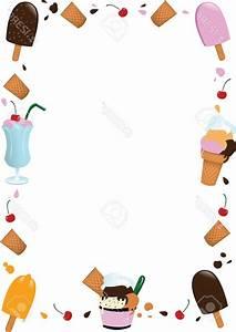 Top Ice Cream Border Clipart Photos