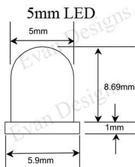 5mm led dimensions more information about led sizes