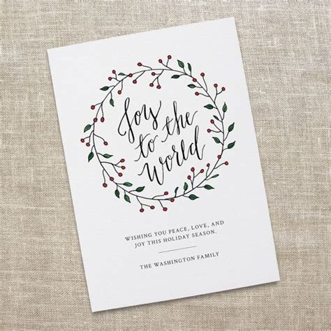 joy   world holiday card printable calligraphy