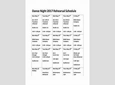 8+ Rehearsal Schedule Examples, Samples