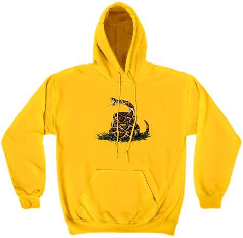 Yellow Sweat T Shirt don t tread on me yellow hooded sweat shirt bay