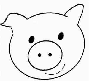 pig face coloring page coloring pages pinterest face With pig puppet template