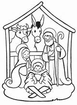 Jesus Coloring Born Pages Printable Colouring Getcolorings Nativity sketch template