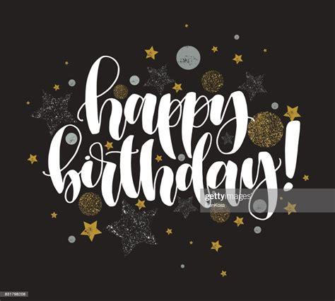 happy birthday beautiful greeting card calligraphy white
