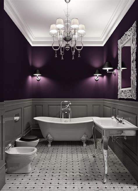 Plum And Gray Design