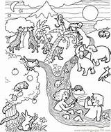 Flood Coloring Pages Printable Getcolorings Coloringpages101 Religions sketch template