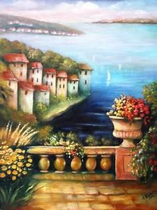 Mediterrane Bilder : mediterrane gem lde mittelmeer landschaft poster von ~ Pilothousefishingboats.com Haus und Dekorationen