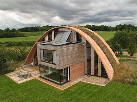 arch roof house england s first passive house is a vaulted green roofed wonder inhabitat green design