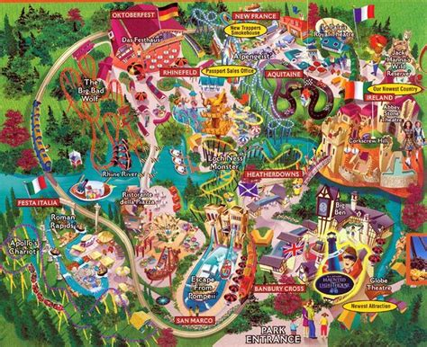 Busch Gardens Ta Directions by 166 Best Theme Park Maps Images On Theme