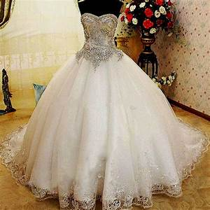 wedding dresses ball gown sweetheart neckline with bling With blingy wedding dresses