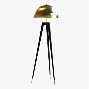 Fife tripod floor lamp 3d model max obj 3ds fbx cgtradercom for Floor lamp 3ds max free model