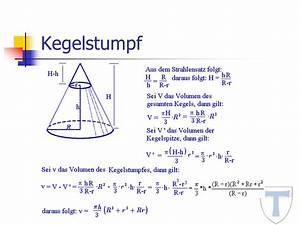 Volumenschwerpunkt Berechnen : kegel geometrie energie und baumaschinen ~ Themetempest.com Abrechnung