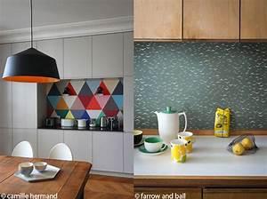 Tapisserie Pour Cuisine : le papier peint dans une cuisine a change tout elle ~ Premium-room.com Idées de Décoration