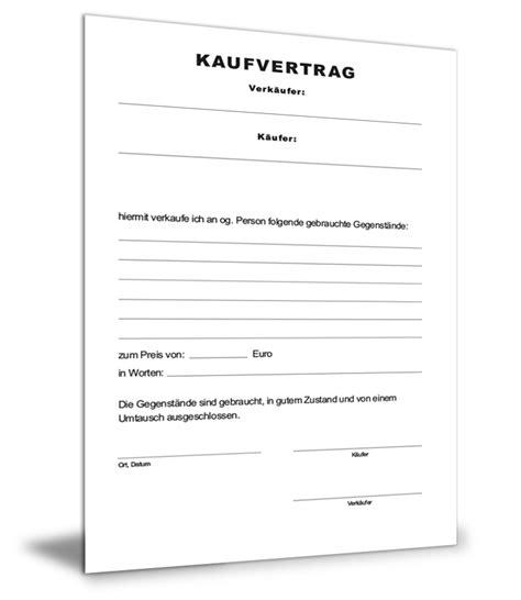 Kaufvertrag Haus Privat by Einfacher Kaufvertrag Gebrauchte Gegenst 228 Nde