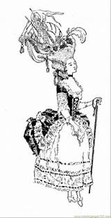 Coloring Marie Antoinette Usa Coloringpages101 sketch template