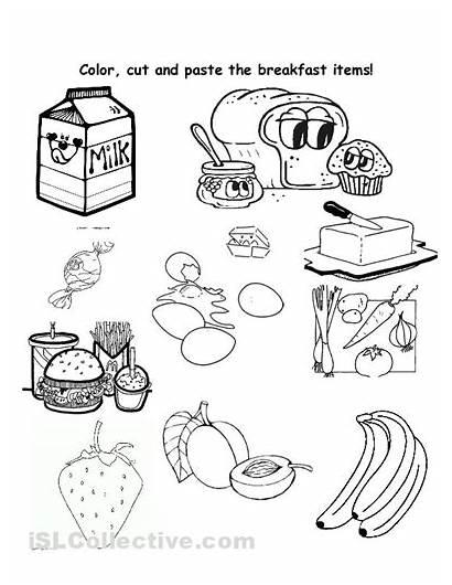 Worksheet Healthy Breakfast Worksheets Printable Cut Paste