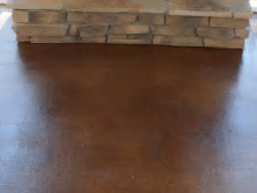 Exterior Stained Concrete Patio