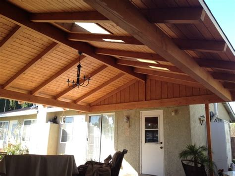 attached solid roof patio covers