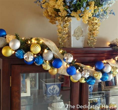cute blue and gold christmas decor blue and gold