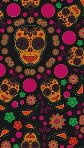GIRLY SKULL, IPHONE WALLPAPER BACKGROUND | IPHONE ...