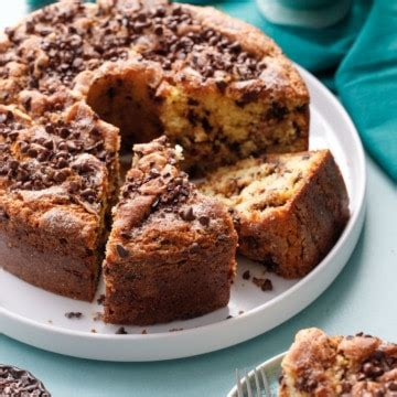 A coffee cake that's just as comfortable at your next dinner party as it is at an afternoon tea, a weeknight family meal, or a rosh hashanah celebration. Sour Cream Chocolate Chip Coffee Cake   Love and Olive Oil