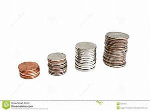 Stacked US Coins Royalty Free Stock Photography - Image ...