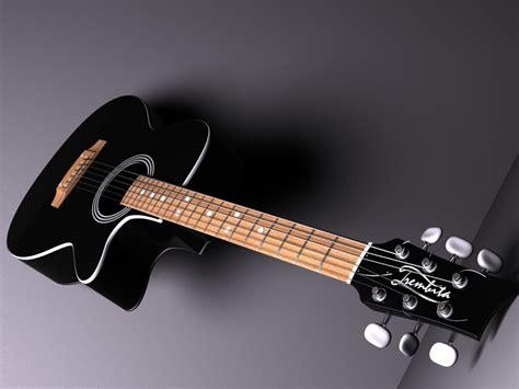 blue  black acoustic guitar  cool hd wallpaper