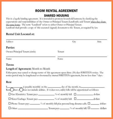 sample lease agreement  renting  house purchase