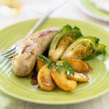 boudins blancs aux pommes et mini choux cuisine