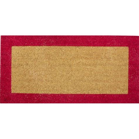 paillasson coco bord couleur sur mesure