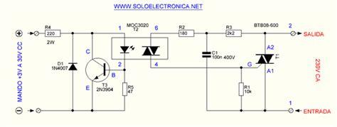 Isolated Triac Control Circuit Moc Electronics