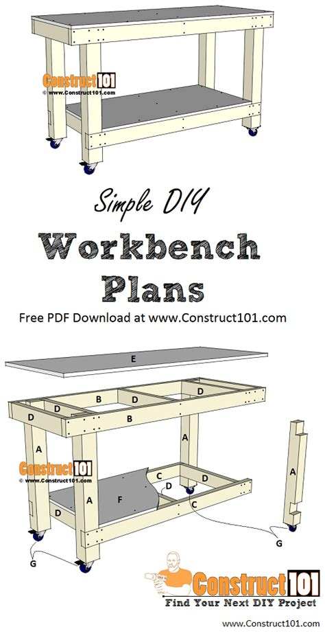 simple workbench plans   construct