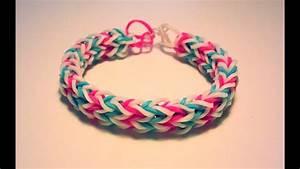 Bracelet Avec Elastique : comment faire un bracelet double avec des lastiques sans machine youtube ~ Melissatoandfro.com Idées de Décoration