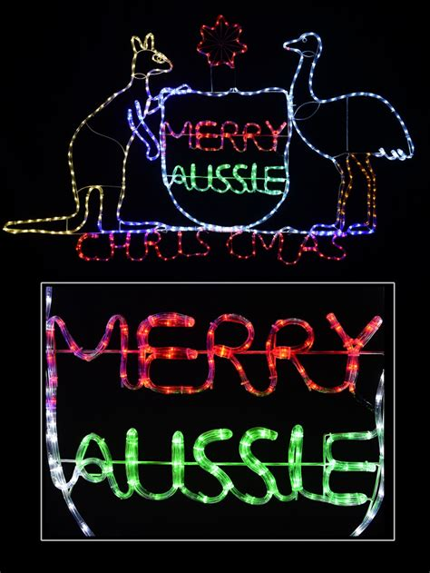 australian coat of arms aussie christmas led rope light