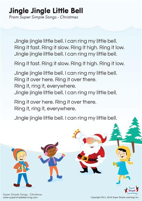 jingle jingle  bell lyrics poster super simple