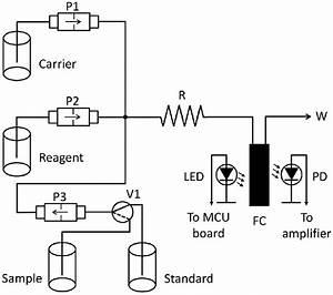 Diagram Of The Flow System  P1  P2  P3  Solenoid Micro