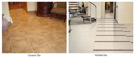 home interior brand difference between ceramic and vitrified tiles
