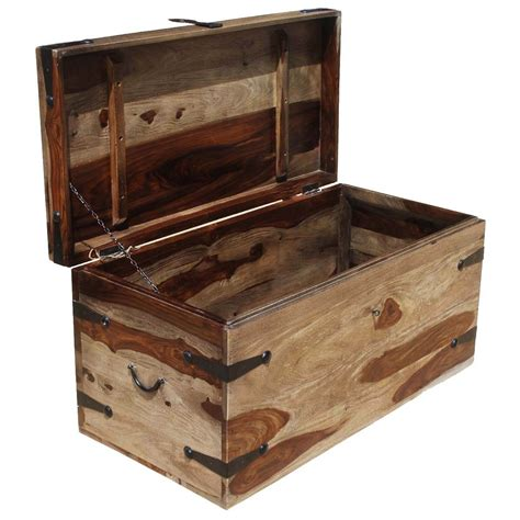Large Wood Storage Toy Box Chest Trunk Coffee Table New